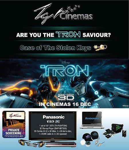 tron image | Case of the Stolen Keys to Tron: Legacy by TGV