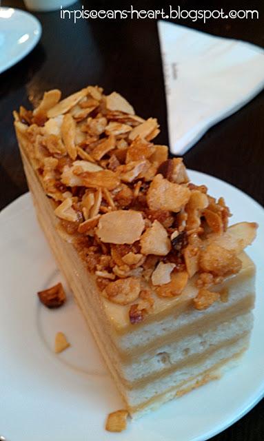 Almond Praline Pave Cake - Food Review: Theobroma Chocolate Lounge @ 1 Utama