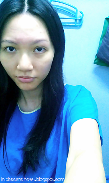 After the treatment at Hejitang TCM 和濟堂, I took my bag into the changing room. I looked like a tired hospital patient :p