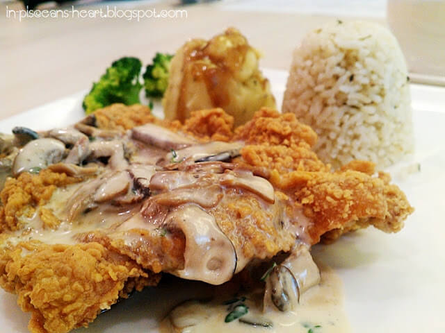 Deep Fried XL Chicken Chop with In House Mushroom Sauce RM 15.90 | Bloggers Gathering 2011 @ Coffee Chemistry Signature