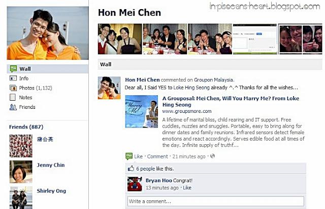 Groupon Proposal 7 | A Grouposal: Mei Chen, Will You Marry Me? From Loke Hing Seong