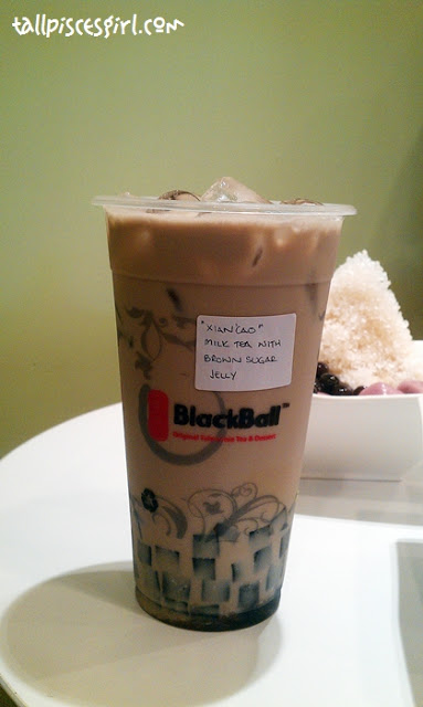 Xian Cao Milk Tea with Brown Sugar Jelly | Food Review: BlackBall @ Sri Petaling