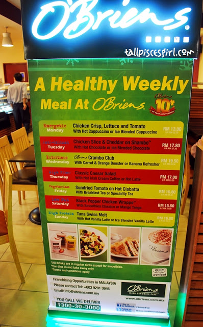Food Review: O'Briens Irish Sandwich Cafe @ Mid Valley Megamall 2