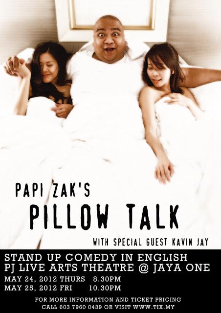 LAUGH FEST 2012: Papi Zak's PILLOW TALK 1