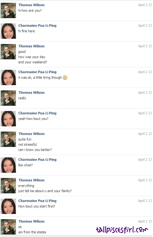 Thomas Wilson Facebook Chat 1 | GIRLS, BEWARE WHILE CHATTING ON FACEBOOK!