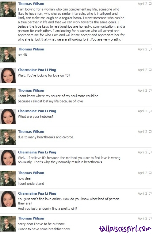 Thomas Wilson Facebook Chat 3 | GIRLS, BEWARE WHILE CHATTING ON FACEBOOK!