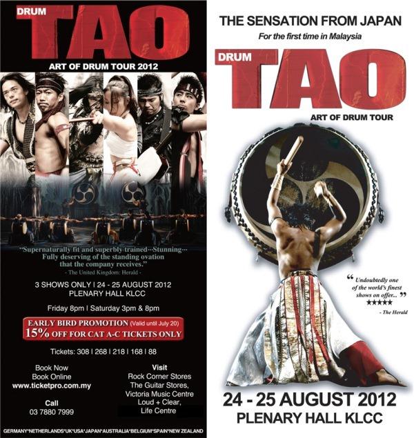 Drum Tao KL DL   Drum Tao - Art of Drum Tour 2012 in Malaysia