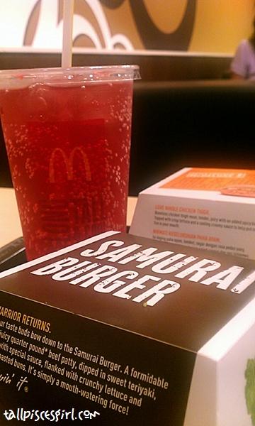 Samurai Beef Burger Set with Sakura McFizz