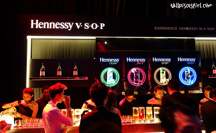 Signature Hennessy V.S.O.P. long drinks: Hennessy Apple, Hennessy Berry, Hennessy Ginger and Hennessy Sod
