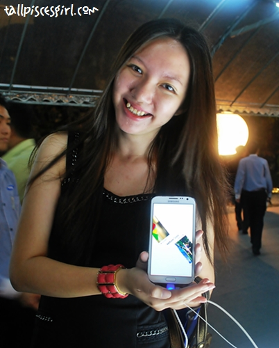 Yours truly with Samsung Galaxy Note II