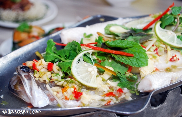 Steamed Siakap with Lime and Chilli Sauce (RM 39.90)