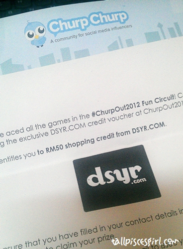 RM 50 shopping credit from DSYR.com