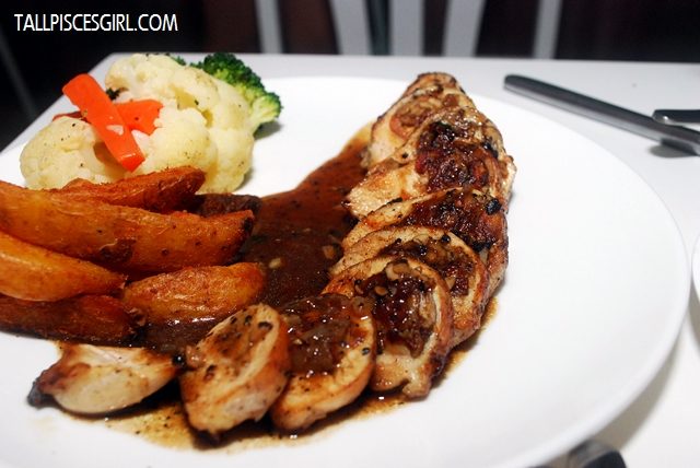 Stuffed Chicken Breast in Mushroom Sauce