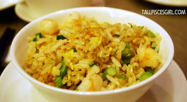 金蒜富豪炒饭 Fried Rice with Seafood, Garlic and Golden Dried Scallop