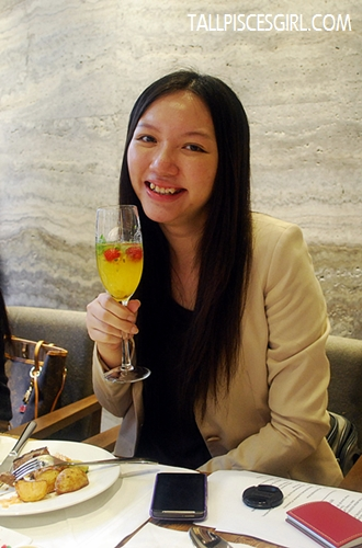 Serai Christmas mocktail – soda, mint leaves, raspberry, passionfruit pulp and a dash of orange juice