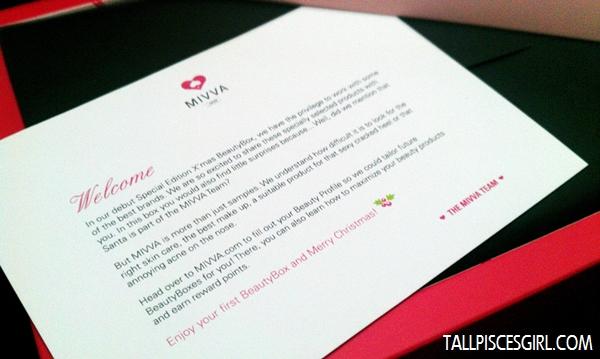MIVVA Beauty Box: Welcome note