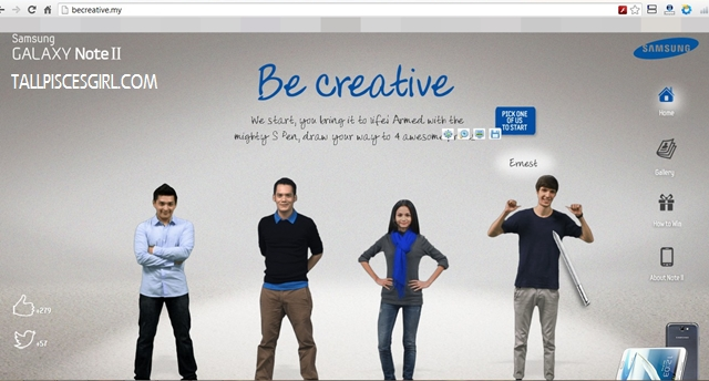 Samsung Be Creative 2 | Samsung Galaxy Note II: Be Creative and Win!