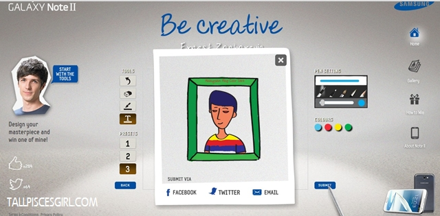 Samsung Be Creative 3 | Samsung Galaxy Note II: Be Creative and Win!