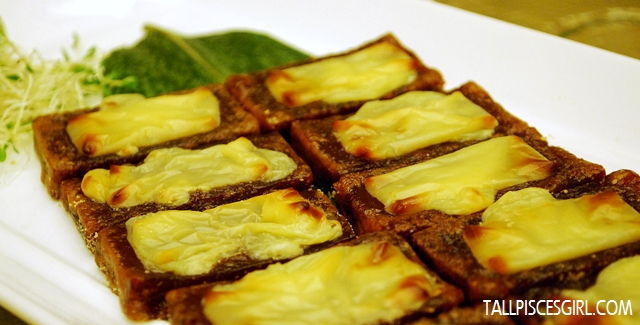 Pan Fried 'Nian Gao' with Cheddar Cheese