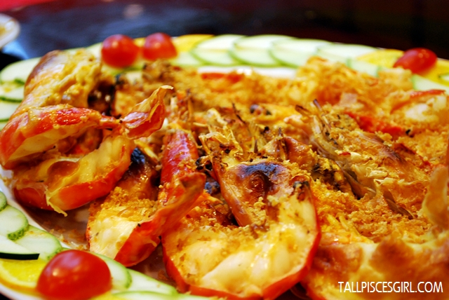 Baked King Prawn with Garlic and Cheese