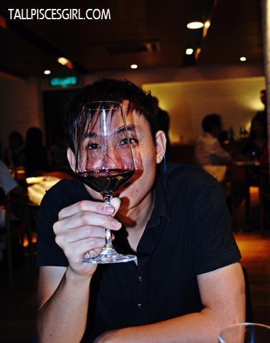 """""""Investigating"""" his wine"""