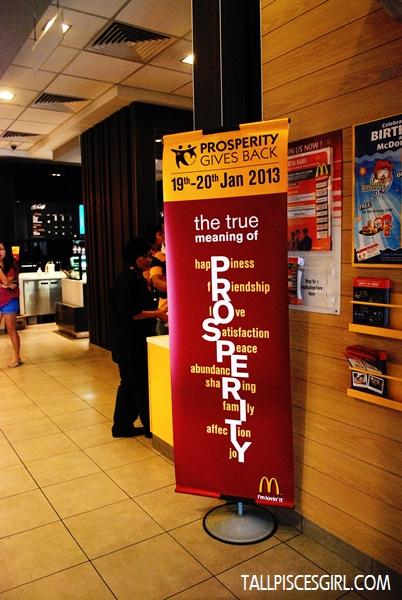 McDonald's Prosperity Gives Back