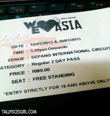 We Love Asia ticket