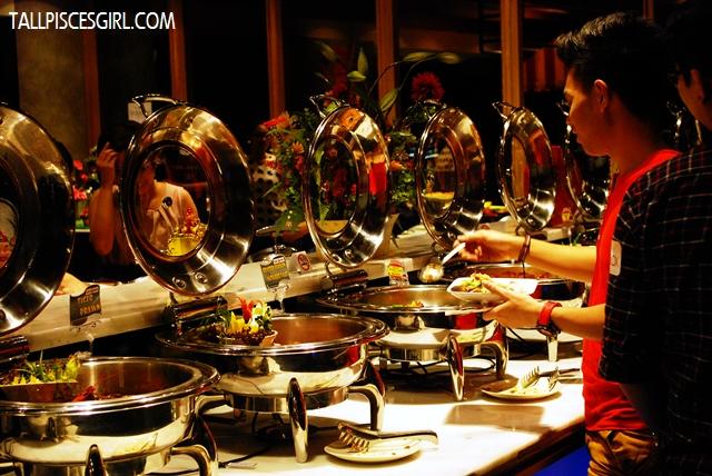 Wide spread of buffet