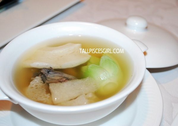 Double-Boiled Phoenix Consommé with Fish Maw and Wild Bamboo Pith