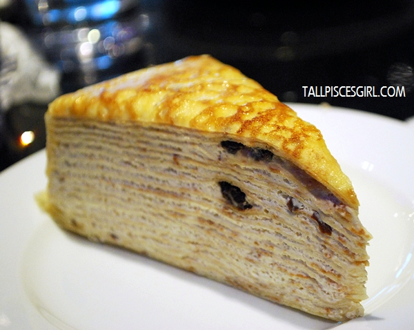 Rum and Raisin Mille Crepe Price: RM 9.50
