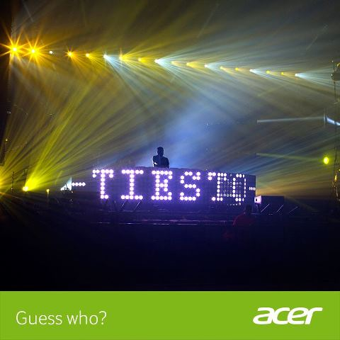 Guess who? It's Tiesto!