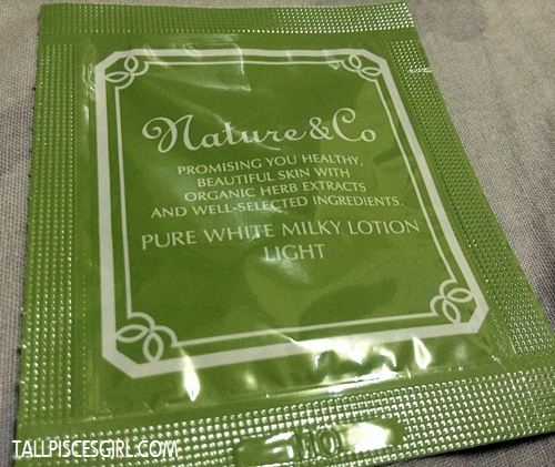 Nature & Co Pure White Milky Lotion Light Sample