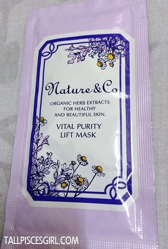 Nature & Co Vital Purity Lift Mask