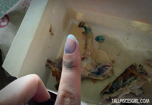 See? Almost no more indelible ink already!