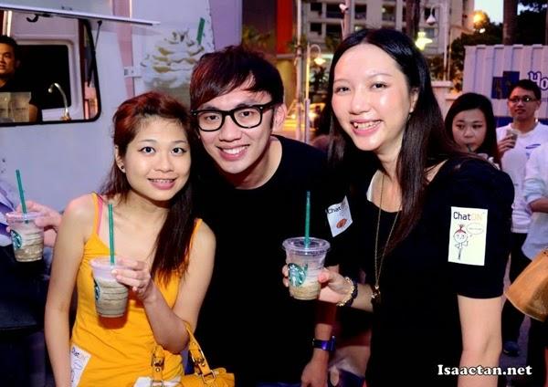 Kahmon, Tamago and I (I'm wearing orange skirt LOL!)