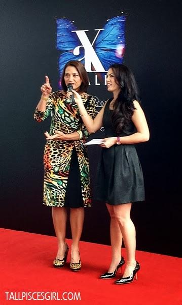 Datuk Yasmin Yusuff with emcee Vanessa Chong