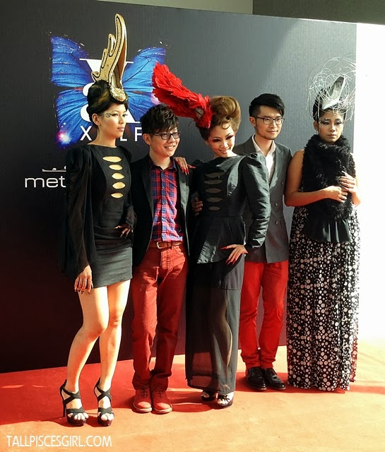 Xavier and Alfred with the models