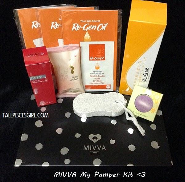 MIVVA Beauty Box July 2013 (My Pamper Kit)