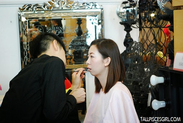 Candid shot of Shannon Chow during makeover