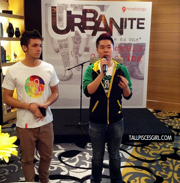Mark O' Dea and DJ Kevin Chong hosting the bloggers launch event