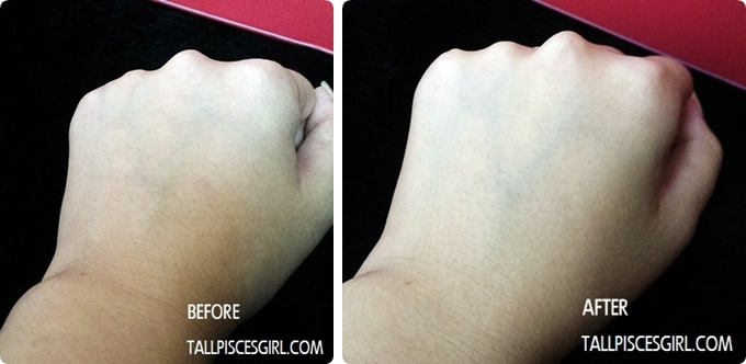 Before and after applying Yes! Nurse Protect Your Lovely Hands