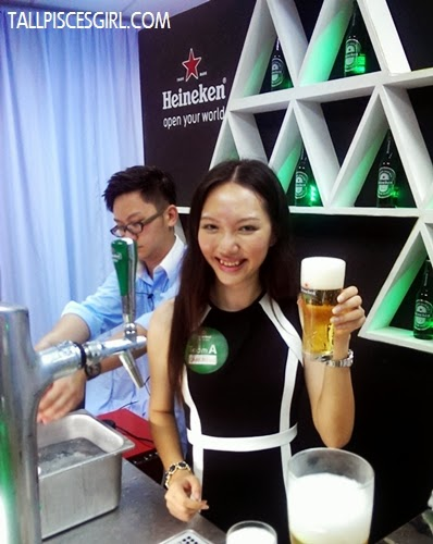 Ehehehe my not-so-perfect pint of Heineken