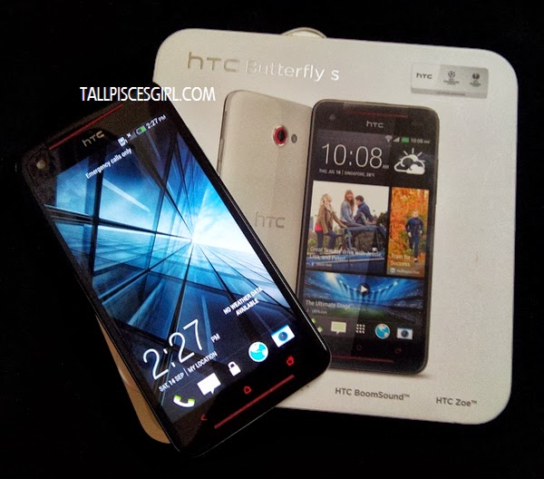 HTC Butterfly S packaging
