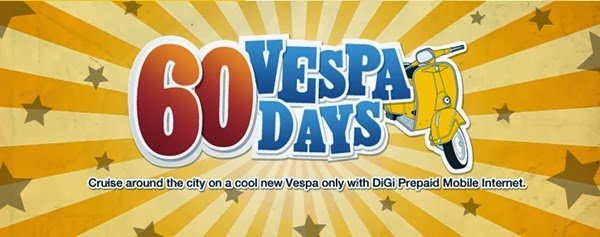 vespa banner1 | 60 Vespas Up for Grab from DiGi in 60 Days!