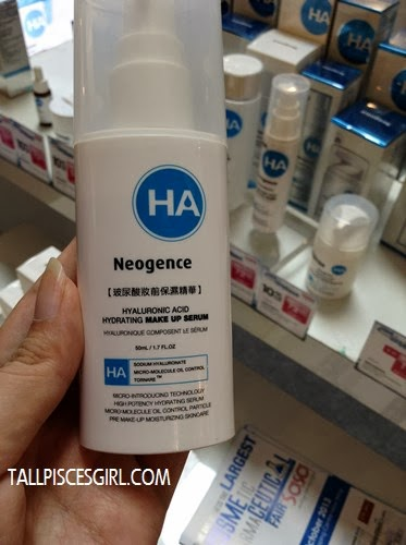 Recommended by the beauty adviser: Neogence Hyaluronic Acid Hydrating Make Up Serum to control my oily skin and keeps it hydrated
