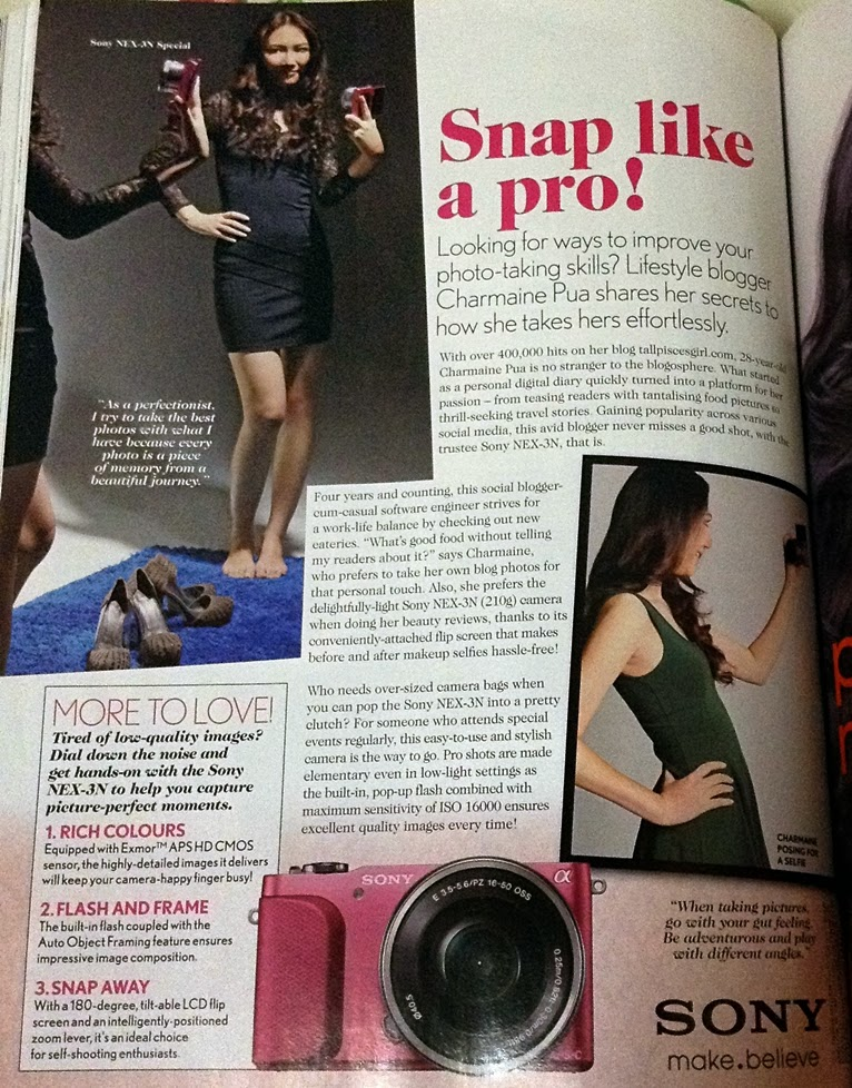 Female magazine October 2013 Sony Advertorial