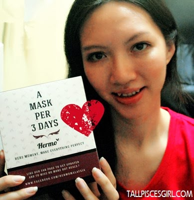 I love shopping at Hermo.my! A mask per 3 days will keep my skin moisturized and smooth ♥♥♥