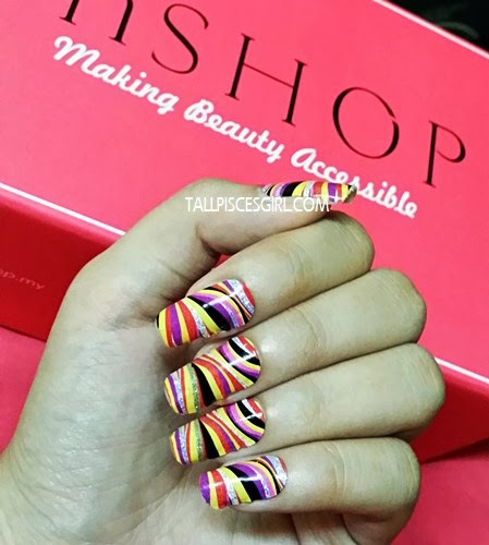 End result using nail it with bloop Nail Strip