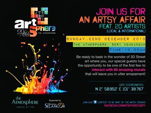 Artsphere Invitation1 - Invitation to the Grand Launching of The Atmosphere