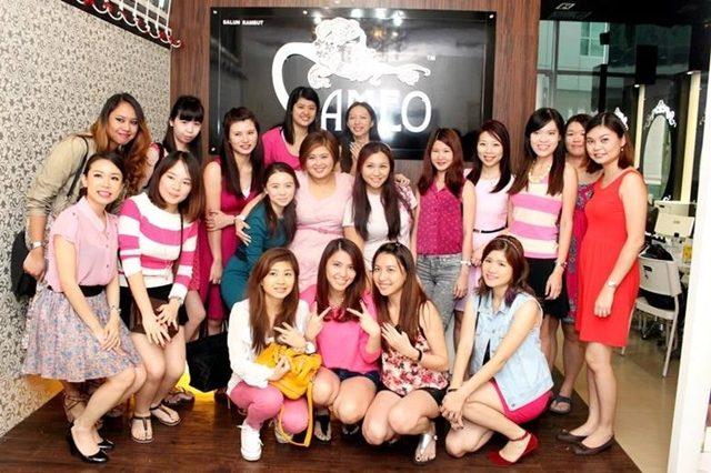 All the girls at Jessying x China Glaze Sparkling Soiree